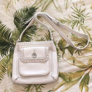 White Brighton crossbody purse